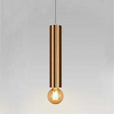 Cylinder Pendant Light Ambient Light Electroplated Metal Mini Style 110-120V / 220-240V Bulb Included