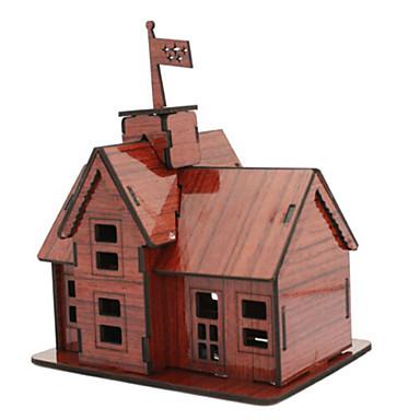 3D - Puzzle Holzpuzzle Haus Architektur 3D Naturholz Kindertag 6 Jahre alt und höher