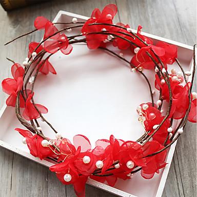 Tüll Korbwaren Stoff Seide Netz Stirnbänder Blumen 1 Hochzeit Besondere Anlässe Geburtstag Party / Abend Kopfschmuck