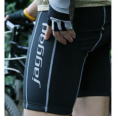 Jaggad Férfi Kerékpáros bélelt nadrág Bike Bélelt nadrág / Alsók Egyszínű Spandex Fekete Kerékpáros ruházat