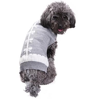 Cica Kutya Kabátok Pulóverek Karácsony Kutyaruházat Masni Szürke Spandex Cotton/Linen Blend Jelmez Háziállatok számára Party