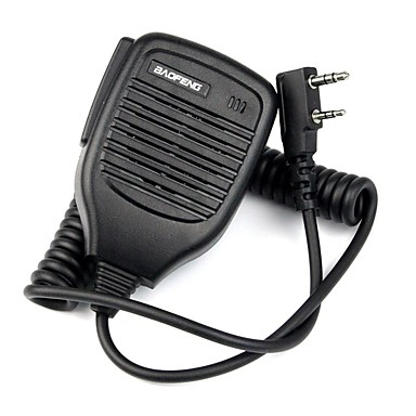 2Pin Handheld PTT Speaker Mic Microphone for BAOFENG Retevis TYT WOUXUN