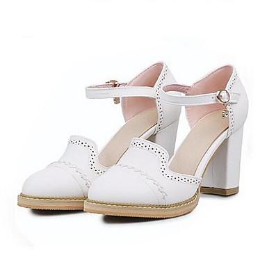 Damen Schuhe PU Frühling Komfort Sandalen Für Normal Weiß Beige Blau Rosa
