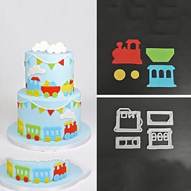 Bakeware eszközök ABS Nem tapad / Letapadásgátló bevonat / DIY Torta / Keksz / Cookie Sütőformák 4db
