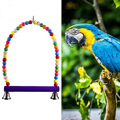 FUN OF PETS® Colorful Wooden  Swing Toys  Cage Hanging for Birds