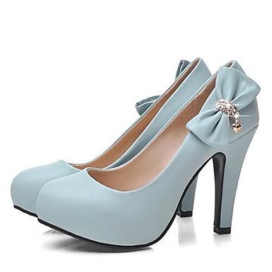 Damen Schuhe PU Frühling Herbst Komfort High Heels Für Normal Weiß Beige Blau Rosa