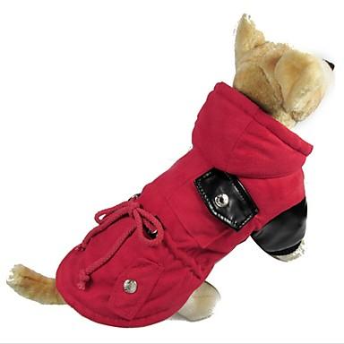 Hund Mäntel Hundekleidung Lässig/Alltäglich warm halten Solide Braun Rot Kostüm Für Haustiere