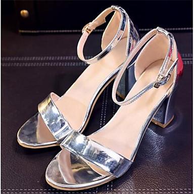 Damen Schuhe PU Frühling Sommer Komfort Sandalen Für Normal Silber