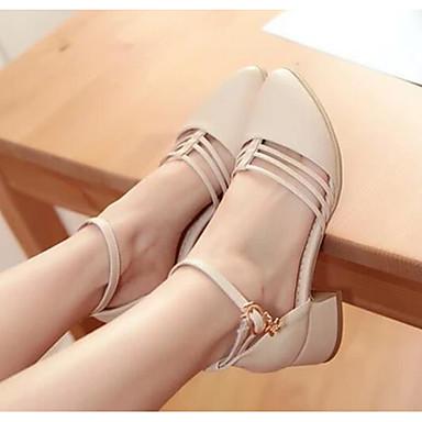 Damen Schuhe PU Frühling / Sommer Komfort Sandalen für Normal Beige / Purpur / Rosa
