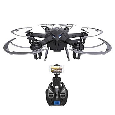 RC Drón i Drone I6W 6CH Vezérlő 6 Tengelyes 2,4 G HD kamerával 720P RC quadcopter LED fények / Egygombos Visszaállítás / 360 Fokos Forgás