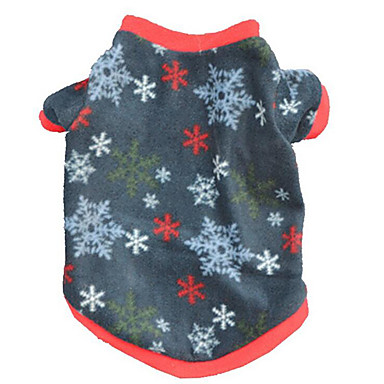 Dog Vest Dog Clothes Snowflake Yellow / Blue Plush Fabric Costume For Pets Men's / Women's Casual / Daily