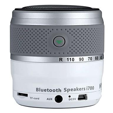 i700 Pro راديو محمول مشغل MP3 بلوتوث SD بطاقةWorld Receiverأسود فضي