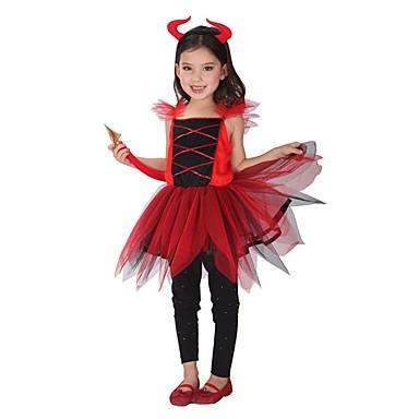 Engel & Teufel Geist Cosplay Kleid Cosplay Kostüme Haloween Figuren Mädchen Halloween Karneval Fest / Feiertage Halloween Kostüme Vintage