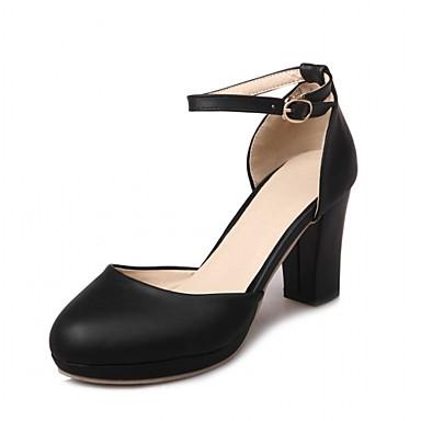 06172203 Bottier Blanc rond à Bout Automne Femme Confort Polyuréthane Eté Nouveauté Chaussures Chaussures Synthétique Boucle Talon Talons qqCwZpaxP