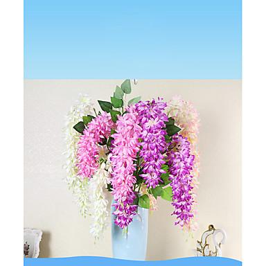 Künstliche Blumen 1 Ast Pastoralen Stil Pflanzen Wand-Blumen