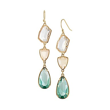 Women's Synthetic Diamond Drop Earrings - Floral / Botanicals, Drop Personalized, Classic, Fashion Light Blue For Party / Gift / Daily