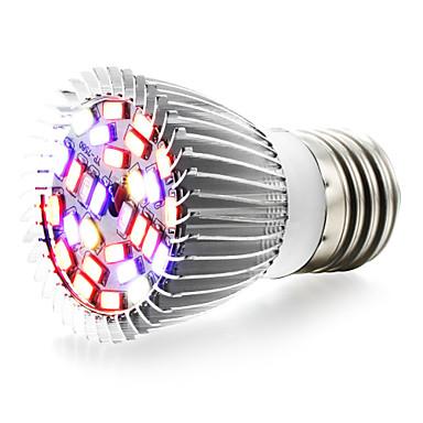 1pç 6W 800lm E27 Lâmpada crescente 28 Contas LED SMD 5730 Branco Quente UV (Luz Negra) Azul Vermelho 85-265V