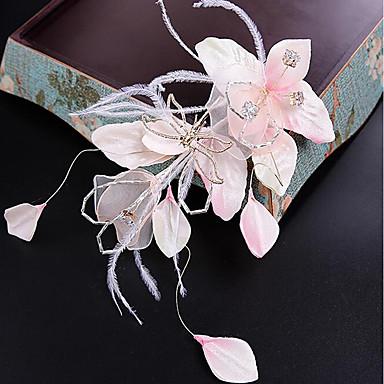 Tüll Stoff Seide Netz Blumen Haarspange Kopfstück eleganten Stil
