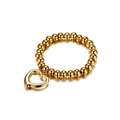 Damen Gold Herz Ketten- & Glieder-Armbänder - Liebe nette Art Modisch Gold Armbänder Für Hochzeit Verlobung Zeremonie