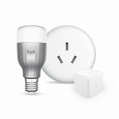 Xiaomi 9W 600lm E27 LED Smart Bulbs 19 LED Beads WiFi Dimmable APP Control Remote-Controlled RGB+White 220V