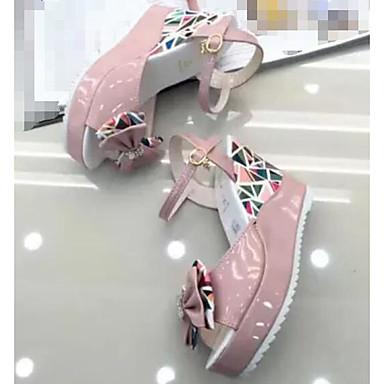 Damen Schuhe PU Sommer Komfort Sandalen Für Normal Weiß Rosa