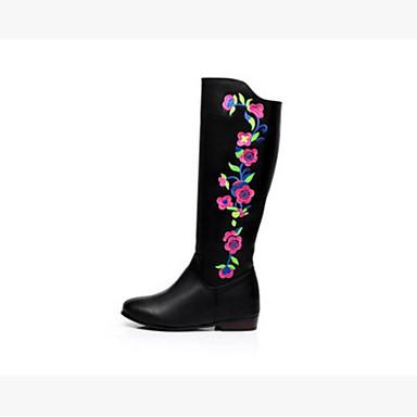 Damen Stiefel Komfort Winter PU Normal Schwarz 5 - 7 cm