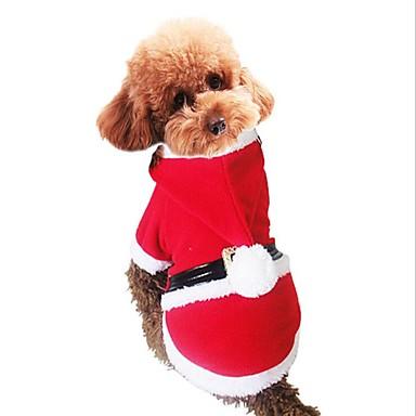 كلب حللا ملابس الكلاب حفلة الرياضات عيد الميلاد عيد الميلاد المجيد أحمر كوستيوم للحيوانات الأليفة