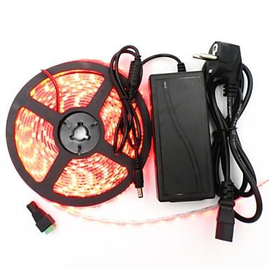 Világítás készletek 300 LED Meleg fehér Fehér Zöld Sárga Kék Piros Cuttable Vízálló Öntapadós Összekapcsolható 100-240V