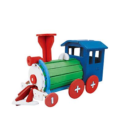 voordelige 3D-puzzels-RUOTAI 3D-puzzels Voertuigen Trein Met de Hand Gemaakt Puinen 1 pcs Doe-het-zelf Kinderen Speeltjes Geschenk