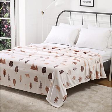 Korallenfleece Blumen Gemischte Polyester/Baumwolle Decken