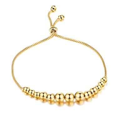 Női Kocka cirkónia Cirkonium Arannyal bevont Imádni való Luxus Lánc & láncszem karkötők - Luxus Alap Divat Circle Shape Arany Karkötők