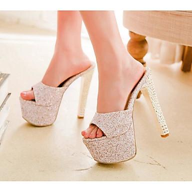 Damen Schuhe Leder PU Frühling Sommer Komfort Pumps High Heels Für Normal Beige Rot Hellblau