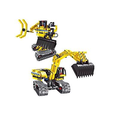 Robot Távirányítós játékok Építőkockák Gép Robot Villás targonca DIY Kotrógép Játékok Ajándék