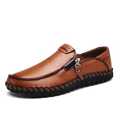 Férfi cipő Oxford / Bőr / PU Ősz / Tél Kényelmes / Mokaszin / Búvárcipő Papucsok & Balerinacipők Fekete / Sárga / Világosbarna