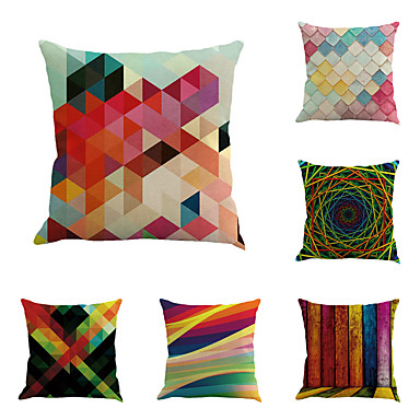6 pcs Cotton / Linen Geometic / Novelty / Fashion Geometric / Retro / Neoclassical