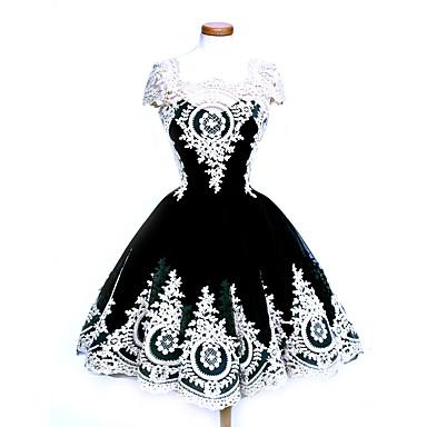 Einteilig/Kleid Gothik Niedlich Klassische/Traditionelle Lolita Punk Vintage Inspirationen Elegant Viktorianisch Rokoko Prinzessin Cosplay
