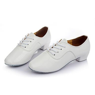 Herren Latin Kunstleder Sneaker Training Maßgefertigter Absatz Weiß 1