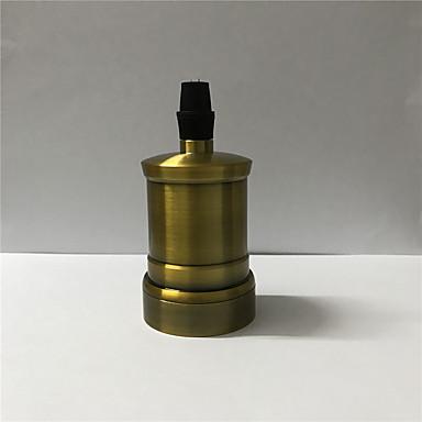 1 db e26 / e27 csavaros izzó fém héj közepes alap Edison retro függesztő lámpa tartó kapcsoló és kábel nélkül