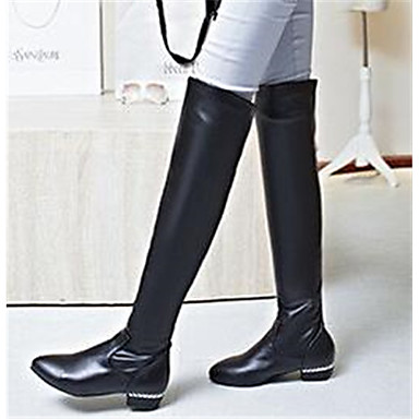 Damen Schuhe Nubukleder PU Herbst Komfort Stiefel Für Normal Schwarz