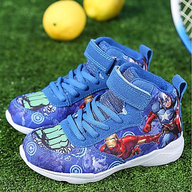 73317fd59 للصبيان أحذية تول / قماش الخريف مريح / بوتي (جزمة الكاحل) أحذية رياضية كرة  السلة دانتيل إلى رمادي / أحمر / أزرق