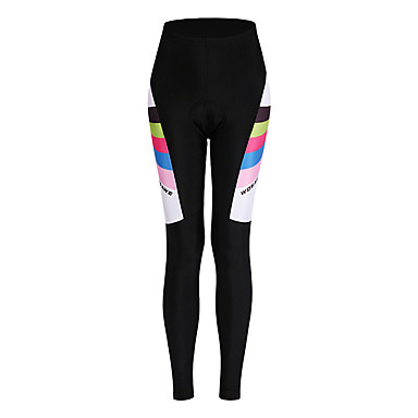 WOSAWE Women's Cycling Tights Bike Bottoms Quick Dry Classic Polyester, Spandex Black Bike Wear