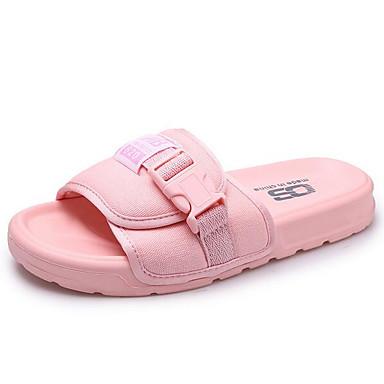 Damen Flache Schuhe Komfort Frühling Stoff Normal Schwarz Rosa 5 - 7 cm