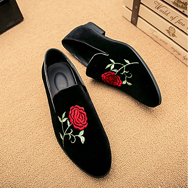 Men's Suede Spring / Fall Comfort / Chinoiserie Loafers & Slip-Ons Black