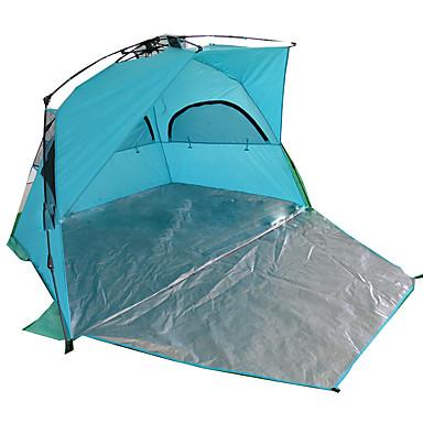 2 személy Sátor Egyszemélyes kemping sátor Külső Összecsukható sátor Vízálló / Szélbiztos / Fényvédő mert Kempingezés és túrázás /