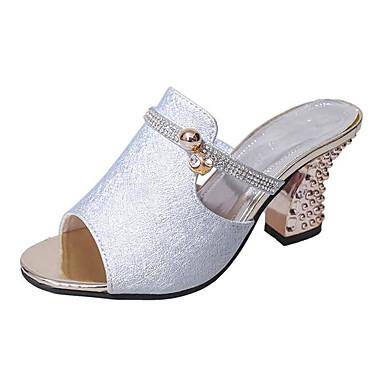 Damen Schuhe PU Sommer Komfort Sandalen Für Normal Gold Silber Rosa