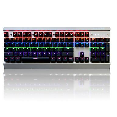 AJAZZ AK70Blue Switches Mit Kabel Multi farbige Hintergrundbeleuchtung blau Schalter 104 Mechanische Tastatur Hinterleuchtet USB-Anschluss