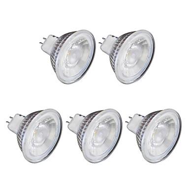 6 W 1 lm GU10 LED szpotlámpák MR16 1 led COB Meleg fehér Hideg fehér 220 V