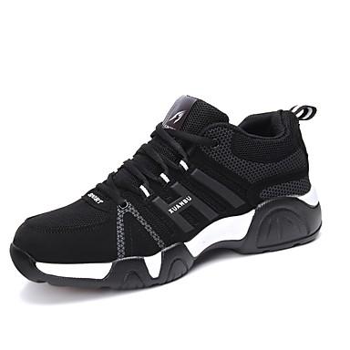 Férfi cipő Tüll Tavasz Ősz Kényelmes Sportcipők Fűző mert Sport Fekete/fehér Fekete/Vörös Fekete/Kék