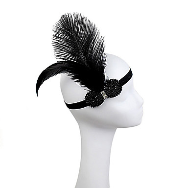 Rhinestone / Feather / Polyester Headbands / Flowers with 1 Wedding / Party / Evening Headpiece
