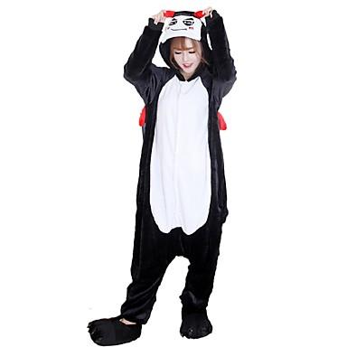 Kigurumi-Pyjamas mit Hausschuhen Teufel Pyjamas-Einteiler Kostüm Flanell Cosplay Für Erwachsene Tiernachtwäsche Karikatur Halloween Fest